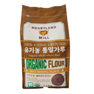 Heartland MILL 100% STONE GROUND Organic WHOLE WHEAT FLOUR(유기농통밀가루) 2.27kg 밥스레드밀BOB'S RED MILL 대체품